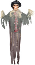 Hanging Scarecrow 6 Ft Halloween Prop Haunted House Lightup Yard Decor D... - $36.90