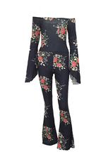 Cotton Spliced Sexy Backless Floral Print Jumpsuit  - $40.95