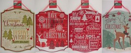 "Christmas Holiday Tidings Wall Sign Danglers 13.5'x10.5"" Select: Tidings - $3.99"