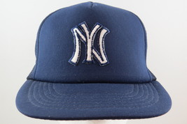 New York Yankees Hat (VTG) - All Blue Trucker Hat with Crested - Adult Snapvack - $65.00