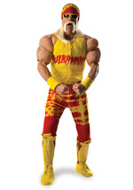 Adult Deluxe Hulk Hogan WWE Grand Heritage Cosplay Halloween Costume - $280.14