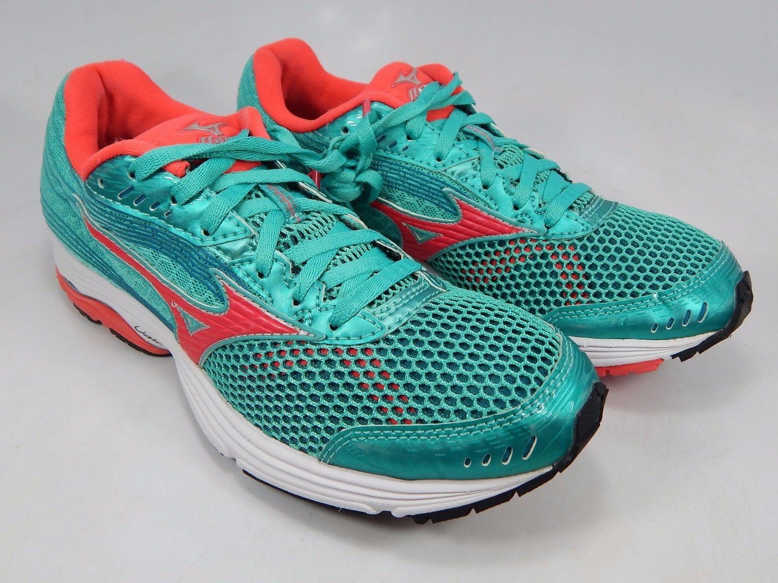 Mizuno Wave Sayonara 3 Women's Running Shoes Size US 8 M (B) EU 38.5 Green Pink
