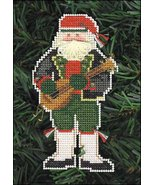 Babbo Natale Olde Time Santa Ornament kit christmas perforated paper cro... - $5.40