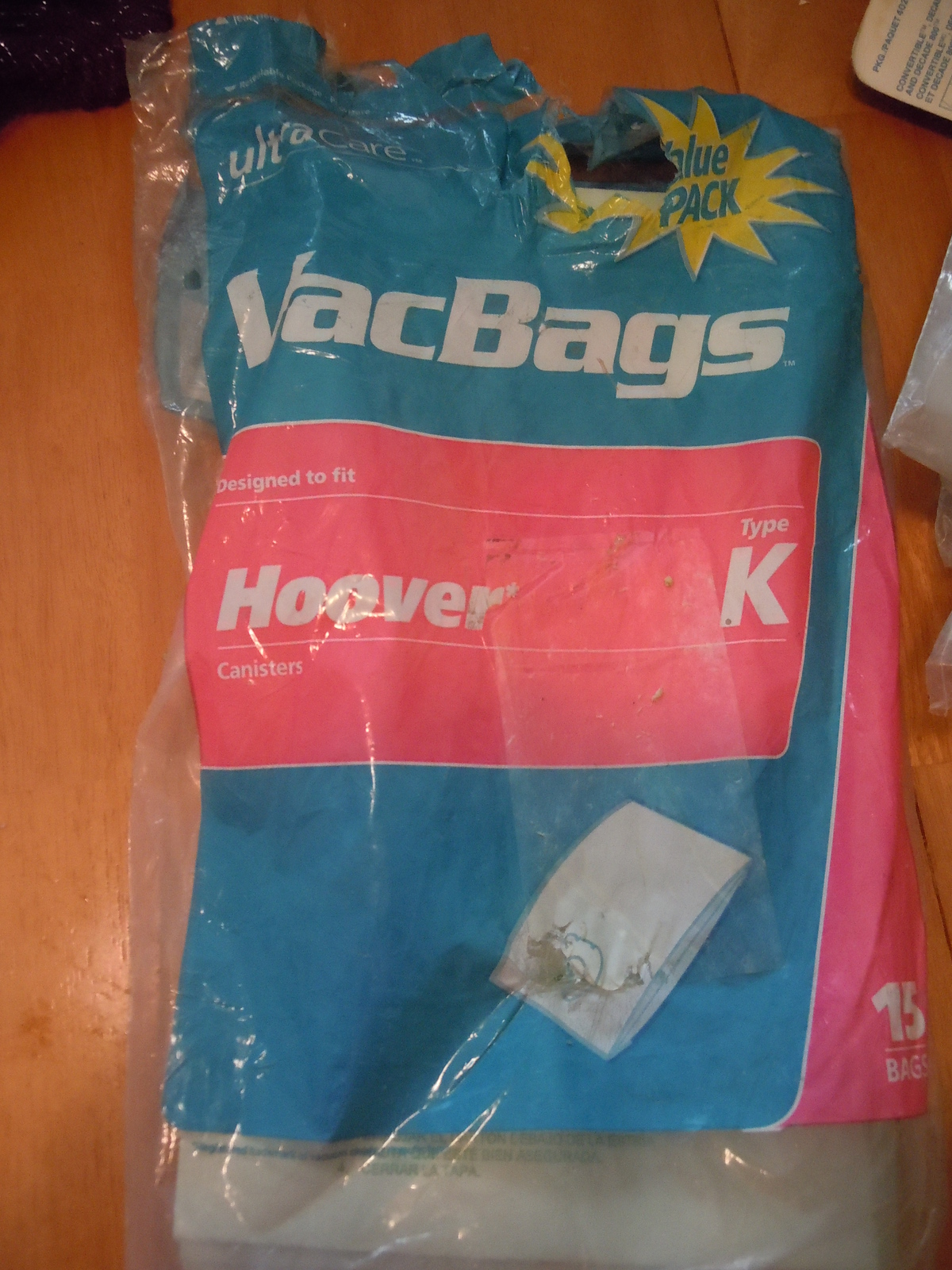 Hoover Canister Type K Vacbags Ultra Light 13 Bags