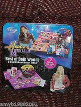 Disney Hannah Montana Best of Both Worlds 2 great CD Board Games in ONE NEW - $24.80