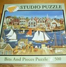 Jigsaw Puzzle 500 Pcs Lewes Delaware Sailboats Tall Ships Americana Art ... - $12.86