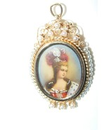 Antique14K Gold Hand Painted Portrait Brooch Pi... - $1,188.00