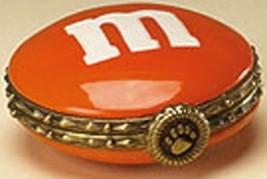 "Boyds Treasure Box ""Orange M & M Hinged Box"" Licensed- New- 2005 - Retired - $22.99"