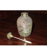 Antique Signed Chinese Reverse Hand Painted Glass Snuff Bottle H030 - $118.80