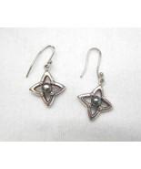 Barra Solid Sterling Silver Earrings Star Motif... - $17.81