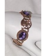 Vintage Egyptian Revival Bracelet Alexandrite Panel Bracelet Neferiti 14... - $1,800.00