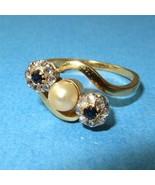c1910 Art Nouveau 18k Gold Rose Cut Diamonds Sa... - $385.11