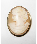 Antique 14K Gold Cameo Brooch or Pendant Italy ... - $193.05