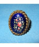 Victorian 14k Gold Handpainted Porcelain Mourni... - $345.51