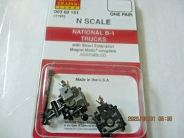Micro-Trains Stock # 00302151 (1195) National B-1 Trucks Short Extension N-Scale image 4