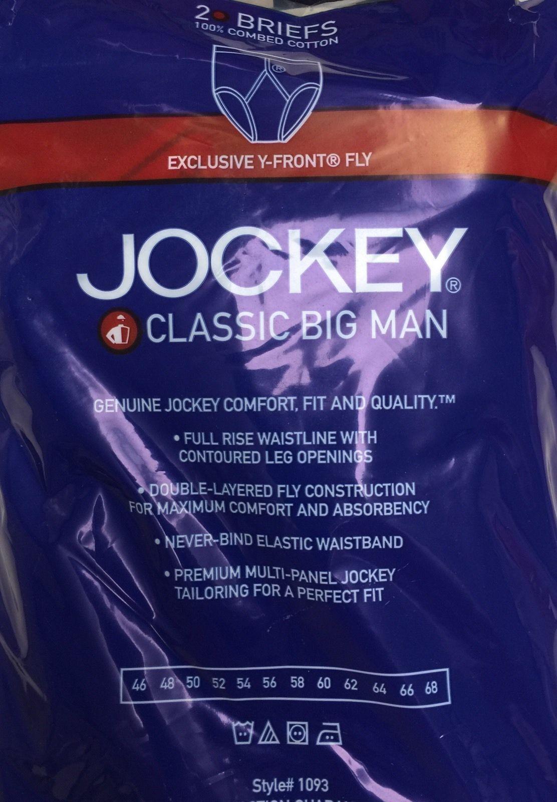 68 Jockey Big Man Classic Brief 52 58 56 50 64 54 60 Sizes 46,48