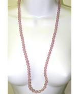Vintage Lavender Quartz Necklace Strand Round P... - $58.41