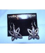 Barra Solid Sterling Silver Butterfly Dangle Ea... - $17.81