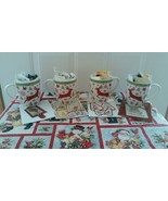 EXCLUSIVE Dancing Snowflake Holiday Mug Grab Bags assorted cross stitch ... - $32.00