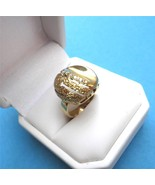 c1950 Modernist 14K Gold and Diamond Ring Half ... - $375.21