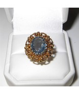 Vintage Baden and Foss 14K Gold Aquamarine Ring... - $543.51