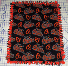"Baltimore Orioles Baby Blanket Fleece Pet Lap Black Orange 30""x 24"" MLB ... - $39.95"