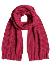 Roxy Stay Out Knitted Scarf in Sangria ERJAA03160-MQD0 - $40.19 CAD