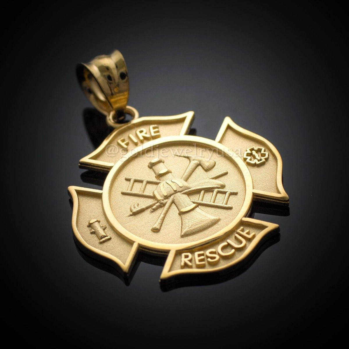 Solid gold firefighter fire rescue maltese and 50 similar items s l1600 s l1600 solid gold firefighter fire rescue maltese cross pendant aloadofball Gallery