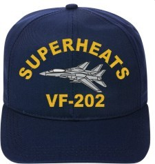 VF-202 Superheats   F-14 Tomcat  Direct Embroidered Cap    New for sale  USA