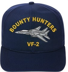 VF-2 Bounty Hunters  F-14 Tomcat  Direct Embroidered Cap    New for sale  USA