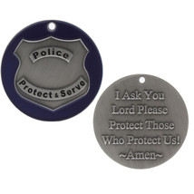 Police Officer Prayer Token Christian Religious Coin Protect Them (Set o... - $23.71