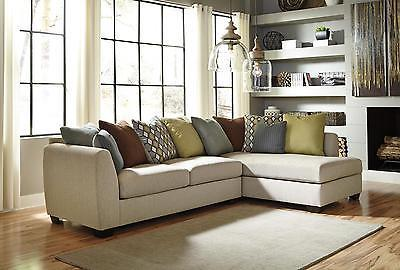 Ashley Casheral Living Room Sectional 2pcs in Linen Right Facing Contemporary