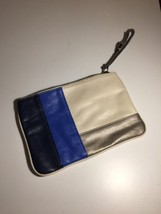"Women's Express Clutch Blue Silver White. 9"" x 6"". Rare design. Ships fast! - $18.52 CAD"