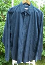 Calvin Klein - Black Striped Long Sleeve Button up Dress Shirt - Mens L Large - $15.95