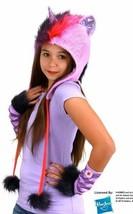My Little Pony Twilight Spakle Laplander Beanie Hoodie Hat and Glovettes... - $40.59