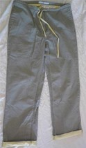 """TOMMY HILFIGER Green w Yellow Womens Size 10 Short Pants~Cuffed; 30""""in~Uncuffed - $22.95"""