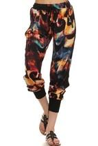 Women's Yelete Fashion Flame Print Jogger Pants with Pockets - $10.95