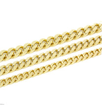 "Mens Cuban Curb Gold Plated Smooth Chain Necklace 30"" Inch (6mm 8mm 10mm) - $12.99"