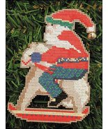 Rocking Horse Santa Olde Time Santa Ornament kit christmas perforated pa... - $5.40