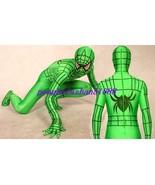 LYCRA SPANDEX GREEN SPIDERMAN SUIT CATSUIT COSTUMES UNISEX HALLOWEEN SUI... - $49.99