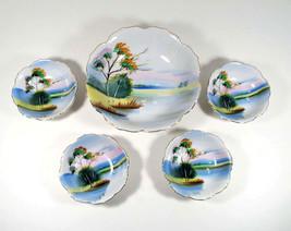 SWAN Serving Bowl SNACK SET Vintage Japan Hand Painted Porcelain 5 Piece... - $24.99