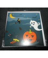 NEW HAPPY HALLOWEEN WITCH PUMPKIN GHOST BAT MOUSE POP-UP 3-D GREETING CARD - $3.69