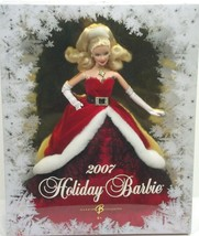 Holiday Barbie Blond Red Lovely Party Dress Doll Gorgeous NIB (A4B120) - $39.59