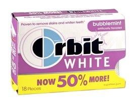 Orbit White Bubblemint Sugarfree Gum, 18 CT (Pack of 8) - $28.76