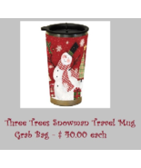 CLEARANCE EXCLUSIVE Three Trees Snowman (red) Travel Mug Grab Bag assort... - $20.00