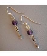 Earrings purple arrow  1   thumbtall