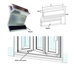 Shower Door Holder with Magnet for Framed Bi-Fold Shower Doors - $29.65