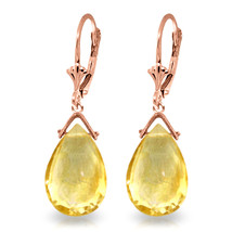10.2 Carat 14K Solid Rose Gold Citrine Joy Earrings - $177.71