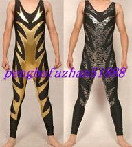 2 Color Lycra Spandex Fancy Wrestling Suit Catsuit Costumes Halloween Suit S186 - $45.99