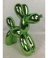 Metallic Green Balloon Dog Figurine Bank  - $42.01